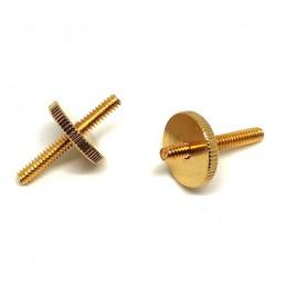 2 Gold thumbwheel + 2 Studs...