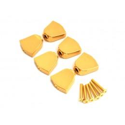 6 Metal keystone Gold Knobs...