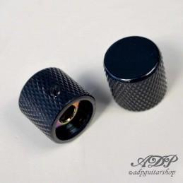 2 Metal FlatTop Black Knobs...
