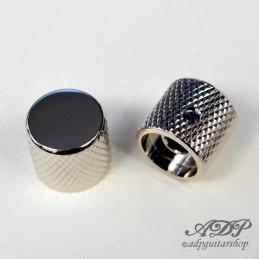 "2 Boutons FlatTop Metal Nickel pour pots solidshaft 6,35mm (1/4"")"