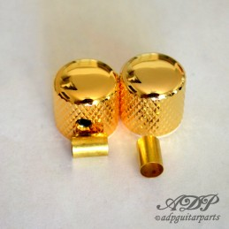 2 Gold Brass Dome Knob Set...