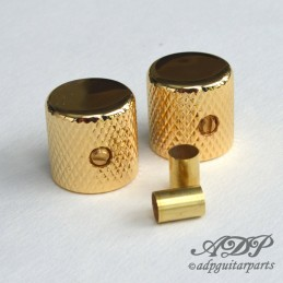 2 Gold flat Knobs 1/4''