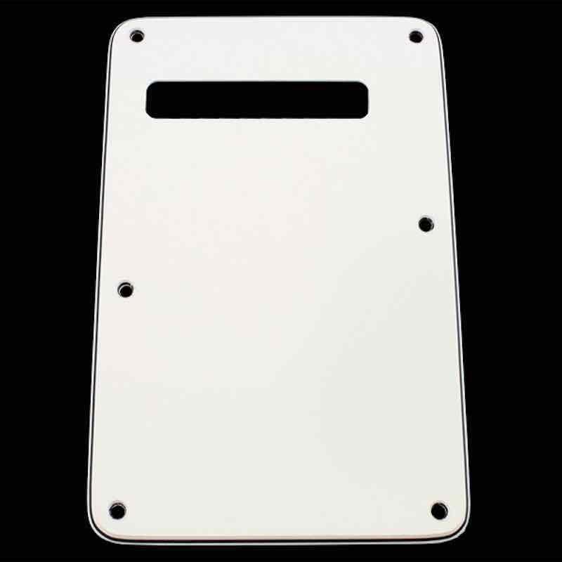 Plaque Vibrato Stratocaster Sans Trous Tremolo Spring BackCover Black 1ply PLT3B