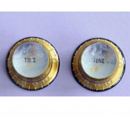2 Boutons Tones Aged gold...