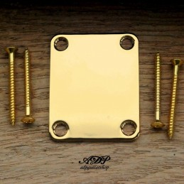 Neck Plate with 4 screws Gold