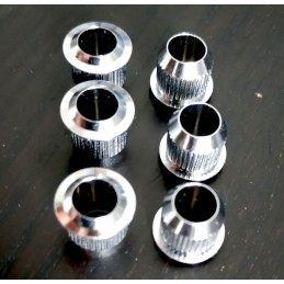 6 chrome brass Bushing...