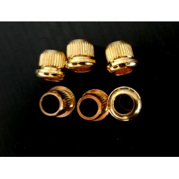 6 Gold brass Bushing...