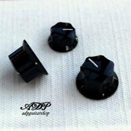 3x Boutons noirs pour Basse...