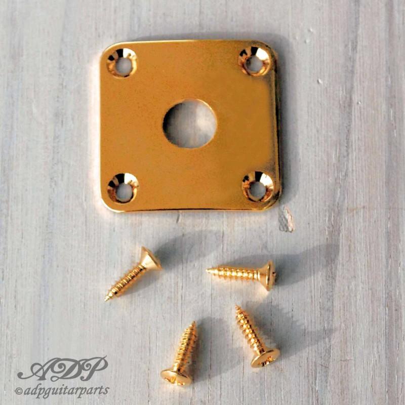 Chrome Jackplate Cuvette  Square  for LP SG 4 finish Nickel Gold Black