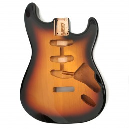 AllPart SBF-3SB 3-Tone Sunburst Finished Replacement Body for Stratocaster