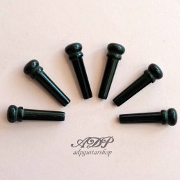 6 Ebony 5,1mm Bridge Pins...