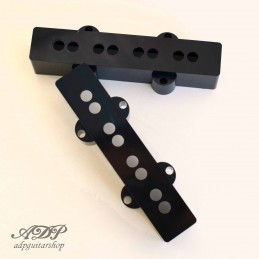 2x Black J-Bass Pickup Cover