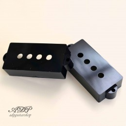 2x Black P-Bass Pickup Cover